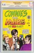 Bronze Age (1970-1979):Alternative/Underground, Commies From Mars #1 First Printing (Kitchen Sink, 1973) CGC Signature Series NM 9.4 Off-white to white pages....