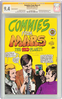 Commies From Mars #1 First Printing (Kitchen Sink, 1973) CGC Signature Series NM 9.4 Off-white to white pages