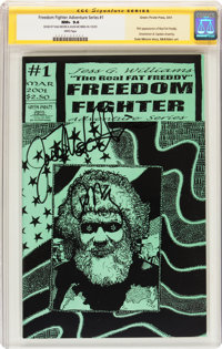 Freedom Fighter Adventure Series #1 (Green Pirate Press, 2001) CGC Signature Series NM+ 9.6 White pages