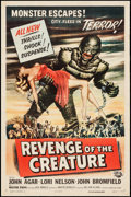 "Movie Posters:Horror, Revenge of the Creature (Universal International, 1955). One Sheet(27"" X 41""). Horror.. ..."