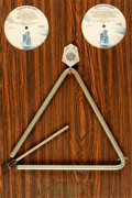Books:Furniture & Accessories, [Musical Instruments]. Mounted Triangle Used in the Recording ofRod McKuen: Greatest Hits, Vol III. Stanyan Rec...