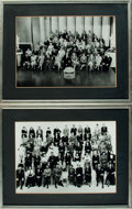 Books:Photography, [Hollywood]. Pair of Framed Photographs Depicting MGM's Roster of Stars. [Circa 1943, 1949]. . ... (Total: 2 Items)