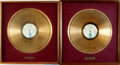 Books:Furniture & Accessories, [Gold Records]. Pair of Rod McKuen Gold Record Awards. . ...(Total: 2 Items)