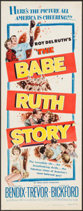 "Movie Posters:Sports, The Babe Ruth Story (Allied Artists, 1948). Insert (14"" X 36""). Sports.. ..."