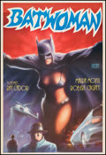"Movie Posters:Action, Batwoman (Akin Film, R-1980s). Turkish One Sheet (26.75"" X 39.25""). Action.. ..."