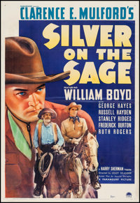 """Silver on the Sage (Paramount, 1939). One Sheet (27"""" X 41""""). Western"""