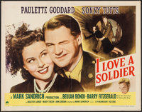 """I Love a Soldier (Paramount, 1944). Half Sheet (22"""" X 28"""") Style A. Drama"""