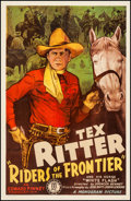 "Movie Posters:Western, Riders of the Frontier (Monogram, 1939). One Sheet (27"" X 41""). Western.. ..."