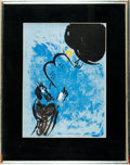 Books:Prints & Leaves, [Featured Lot]. Marc Chagall. Framed Color Lithograph Entitled,Moses Receiving the Tablets of the Law. ...