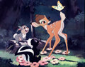 Animation Art:Poster, Bambi Studio Dye Transfer Print Signed by Walt Disney (WaltDisney, 1941)....