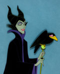 Animation Art:Production Cel, Sleeping Beauty Maleficent and Diablo Production Cel Setup(Walt Disney, 1959)....