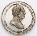Political:Tokens & Medals, Zachary Taylor: Scarce large silver dollar-sized 39 mm 1848 campaign medal, 1848-8 in Sullivan. White metal. Beautiful virtu...