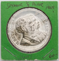 Political:Tokens & Medals, Seymour & Blair: 1868 High Relief Jugate Medal...