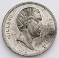 Political:Tokens & Medals, Millard Fillmore: Scarce MF 1856-2, white metal, 39 mm. Impressive silver dollar-sized campaign medal in choice, virtually u...