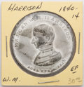 Political:Tokens & Medals, William Henry Harrison: Large silver dollar-sized campaign medal, 1840-14 in Sullivan. White metal. Choice, nearly uncircula...