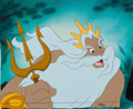 Animation Art:Production Cel, The Little Mermaid King Triton Production Cel (Walt Disney,1989)....