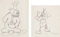 Animation Art:Production Drawing, Steamboat Willie Mickey Mouse Animation Drawing (Walt Disney, 1928).... (Total: 2 Original Art)