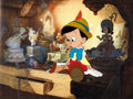 Animation Art:Production Cel, Pinocchio Production Cel (Walt Disney, 1940)....