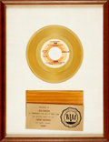 Books:Furniture & Accessories, [Gold Records]. Gold Record Award for Jean by Oliver, fromthe Film The Pride of Miss Brodie. Crewe ...
