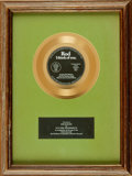 Books:Furniture & Accessories, [Gold Records]. Gold Record Award for Rod: I Think of You. Stanyan Records, [n.d., circa 1970]. . ...