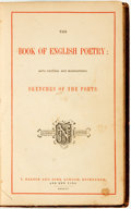 Books:Literature Pre-1900, [Poetry]. The Book of English Poetry: with Critical andBiographical Sketches of the Poets. London; Edinburgh and Ne...(Total: 2 Items)