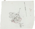 Animation Art:Production Drawing, Andrea Favilli Mickey Mouse with Disney Legends Award Sketch(Disney, 2012)....