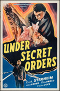 "Movie Posters:War, Under Secret Orders (Guaranteed Pictures, 1943). One Sheet (27"" X41""). War.. ..."