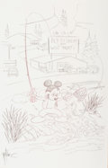 Animation Art:Production Drawing, Topper Helmers - Mickey Mouse Illustration Preliminary Sketch(1990s)....