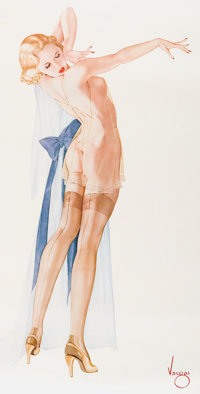 Alberto Vargas Seams Perfect Limited Edition Print #229/300 (San Francisco Art Exchange, 1993)