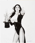 Original Comic Art:Splash Pages, Ken Branch Zatanna Pin-Up Original Art (2008)....