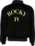 "Movie/TV Memorabilia:Costumes, A Sylvester Stallone Crew Jacket from ""Rocky IV""...."