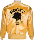 "Movie/TV Memorabilia:Costumes, A Personal Crew Jacket from ""Rocky III.""..."