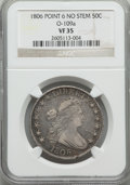 Early Half Dollars: , 1806 50C Pointed 6, No Stem, O-109a, T-15, R.3, VF35 NGC. ...