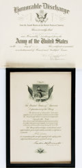 Books:Americana & American History, [Military]. Rod McKuen's U.S. Army Honorable Discharge Certificate.Dated June 30, 1961. . ...