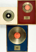Books:Furniture & Accessories, [Gold Records]. Group of Three Rod McKuen Commemorative RecordAwards. . ... (Total: 3 Items)