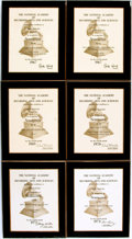 Books:Furniture & Accessories, [Grammy Awards]. Group of Six Plaques from the National Academy ofRecording Arts and Sciences Recognizing Rod McKuen for Vari...(Total: 6 Items)