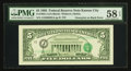 Error Notes:Third Printing on Reverse, Fr. 1985-J $5 1995 Federal Reserve Note. PMG Choice About Unc 58 EPQ.. ...