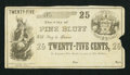 Obsoletes By State:Arkansas, Pine Bluff, AR- City of Pine Bluff 25¢ circa 1862 Rothert 556-2. ...