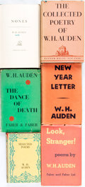 Books:Literature 1900-up, W.H. Auden. Group of Six Books of Poetry, One SIGNED. Variouspublishers and dates.... (Total: 6 Items)