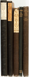 Books:Literature 1900-up, Edna St. Vincent Millay. Group of Five Books of Poetry, One SIGNED.Various publishers and dates.... (Total: 5 Items)