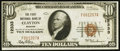 National Bank Notes:Missouri, Clayton, MO - $10 1929 Ty. 1 The First NB Ch. # 12333. ...
