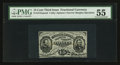 Fractional Currency:Third Issue, Fr. 1272SP 15¢ Third Issue Narrow Margin Face PMG About Uncirculated 55.. ...