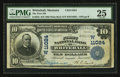 National Bank Notes:Montana, Whitehall, MT - $10 1902 Plain Back Fr. 632 The First NB Ch. #(W)11024. ...
