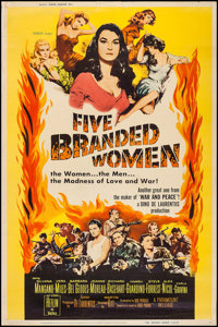 "Five Branded Women & Other Lot (Paramount, 1960). Posters (2) (40"" X 60"") and Poster (30"" X 40&qu..."