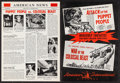 Movie Posters:Horror, Attack of the Puppet People/War of the Colossal Beast Combo &Others Lot (American International, 1958). Uncut Pressbooks (7...(Total: 7 Items)