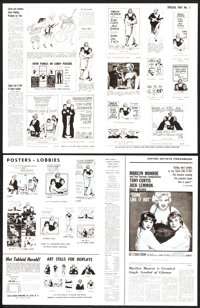 "Some Like It Hot & Others Lot (United Artists, 1959). Uncut Pressbooks (157) (Multiple Pages, 9.25"" X 13&qu..."