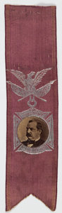 Political:Ribbons & Badges, Grover Cleveland: 1888 Campaign Ribbon,...