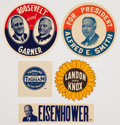 Political:Small Paper (1896-present), Five Campaign Paper Decals.... (Total: 5 Items)
