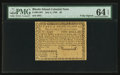 Colonial Notes:Rhode Island, Fully Signed Rhode Island July 2, 1780 $2 PMG Choice Uncirculated64 EPQ.. ...