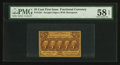 Fractional Currency:First Issue, Fr. 1281 25¢ First Issue PMG Choice About Unc 58 EPQ.. ...